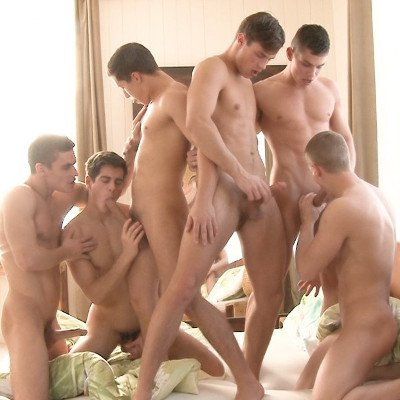 6-man orgy - Raw - Bel Ami Online photo gallery