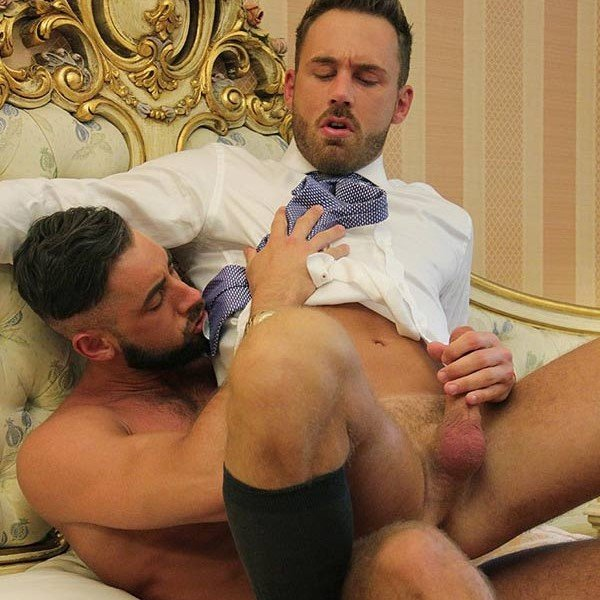 Logan Moore and Massimo Piano flip-fuck - Men at Play photo gallery