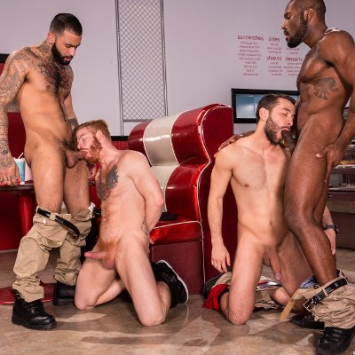 4-man oral orgy - Raging Stallion photo gallery