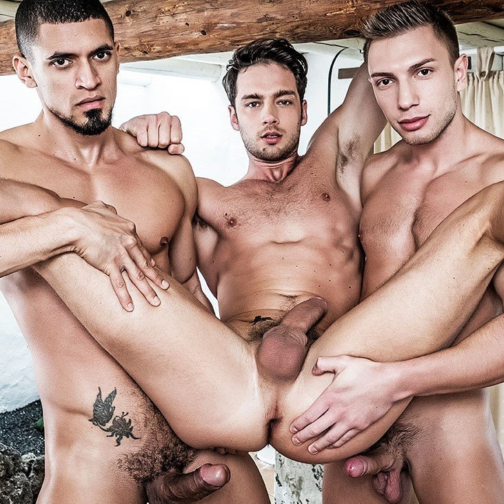 Damon Heart takes on Ibrahim Moreno and Bogdan Gromov - Raw - Lucas Entertainment photo gallery