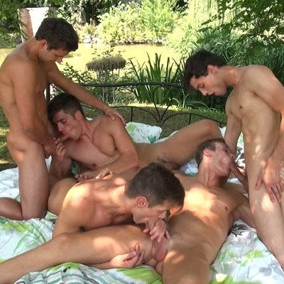 5-man orgy - Raw - Bel Ami Online photo gallery
