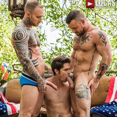 Sergeant Miles and Dylan James dominate Devin Franco - Raw - Lucas Entertainment photo gallery