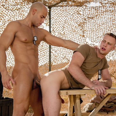 Sean Zevran drills Brandon Evans - Falcon Studios photo gallery