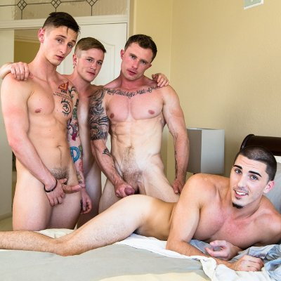 4-man fuck fest - Raw - Next Door Studios photo gallery