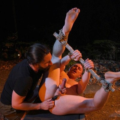 Damien Moreau gets tied up and edged - Kink Men photo gallery