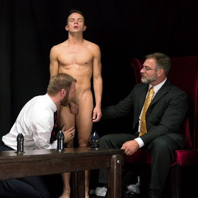 Elder Land submits to Bishop Gibson and President Faust - Raw - Mormon Boyz photo gallery