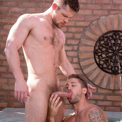 Wesley Woods and Kurtis Wolfe swap oral - Falcon Studios photo gallery