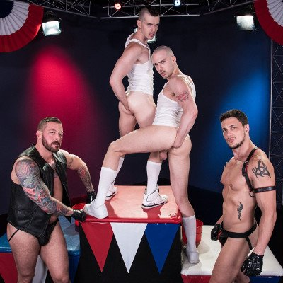 4-man fisting orgy - Club Inferno Dungeon photo gallery