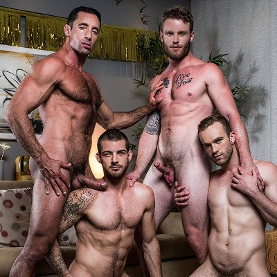 4-man orgy - Raw - Lucas Entertainment photo gallery