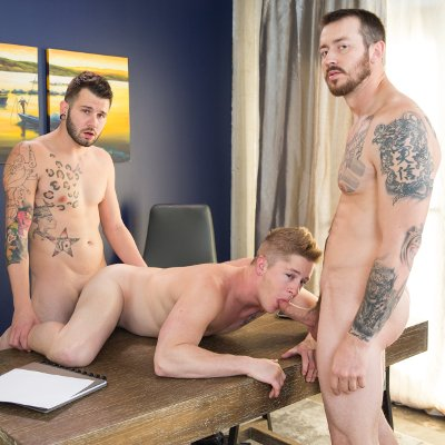 Mark and Johnny fuck Chris - Raw - Next Door Studios photo gallery