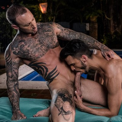 Dylan James tops Aaden Stark - Raw - Lucas Entertainment photo gallery