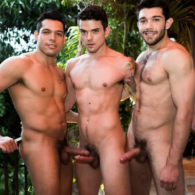 Ben and Alejandro double-dick Dakota - Raw - Lucas Entertainment photo gallery