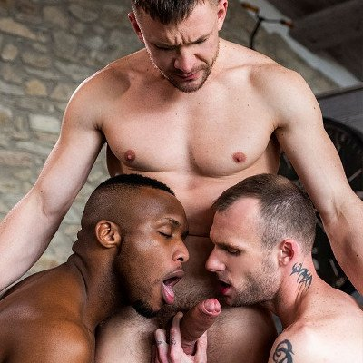 Guillaume and Andre spit roast Andrey - Raw - Lucas Entertainment photo gallery