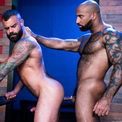 Daymin Voss and Drake Masters flip fuck - Raging Stallion photo gallery