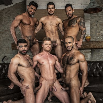 Rico Marlon stars in six-man orgy - Lucas Entertainment photo gallery