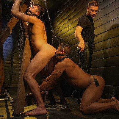 Sebastian dominates Mason and Draven - Kink Men photo gallery