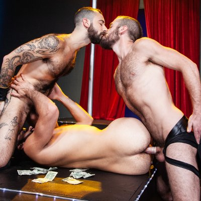 Tegan, Ziggy and Stephen - Raging Stallion photo gallery