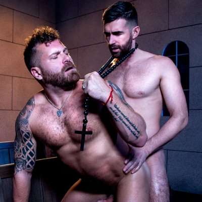 Woody Fox pounds Riley Mitchel - Raging Stallion photo gallery