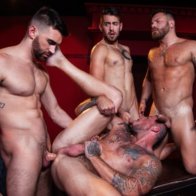 4-man fuckfest - Raging Stallion photo gallery