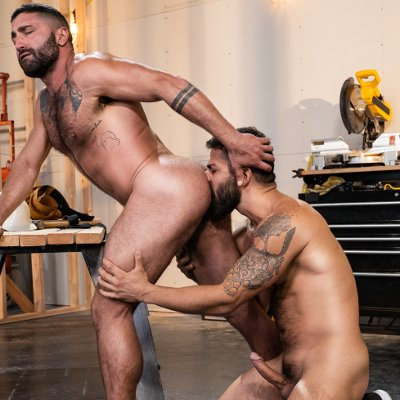 Adam Ramzi hammers Sharok - Raw - Raging Stallion photo gallery