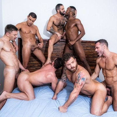 7-man orgy - Raw - Lucas Entertainment photo gallery