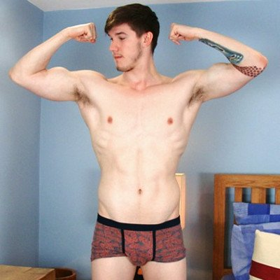 Chris Walker shows off - English Lads photo gallery