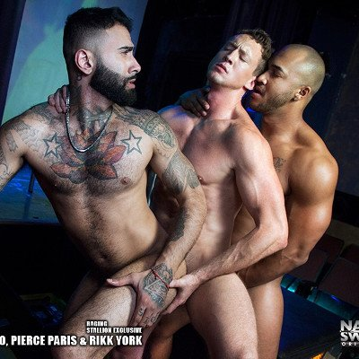 Jason, Pierce and Rikk  - Naked Sword photo gallery