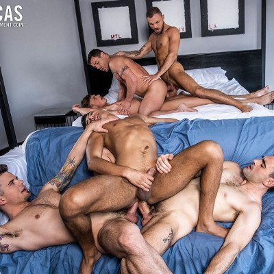 6-man orgy - Raw - Lucas Entertainment photo gallery