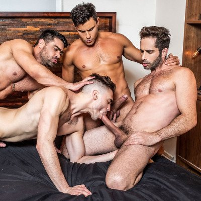 Michael, Rafael and Wagner fuck Asher - Lucas Entertainment photo gallery