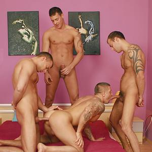 Triplets porno gay
