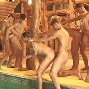 Gay Porn Pool Orgy
