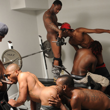 T-Porn, ThugZilla and friends - Dark Thunder / Thug Orgy photo gallery