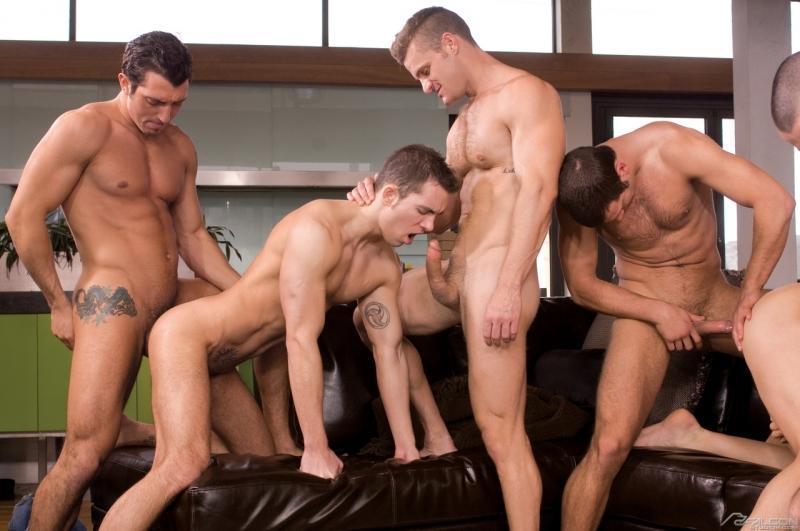 Порно фото групповой секс геев