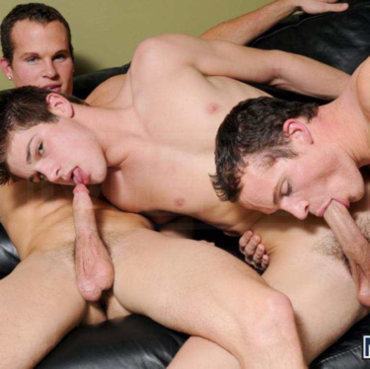 Johnny Rapid with the Rosso Twins - Men.com photo gallery