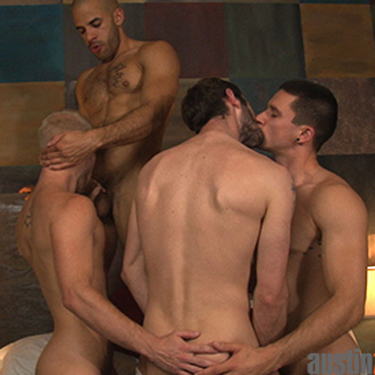 4-man orgy - Austin Zane photo gallery