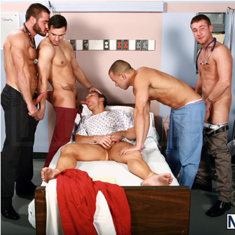 Phenix Saint, Dylan Roberts, Trevor Knight, Chris Tyler and Jessy Ares - Men.com photo gallery