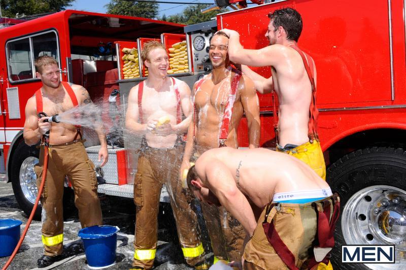 Naked firemen