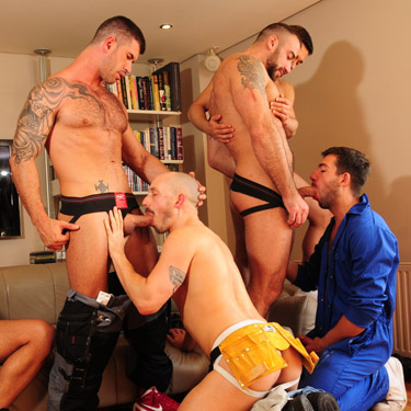 7-man orgy - Alpha Males  photo gallery