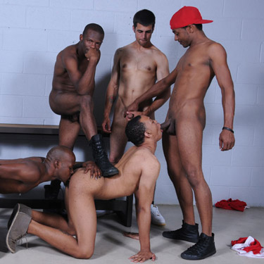 black orgy nude - 5-man Orgy - Dark Thunder / Thug Orgy photo gallery