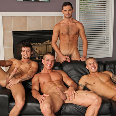 7-man orgy - Next Door Buddies photo gallery