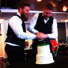 Straight buds get gay-married in New Zealand.