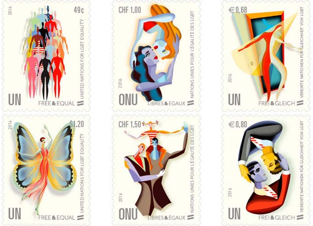 UN releases gay themed stamps