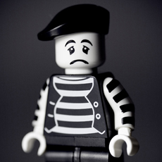 Sad French mime