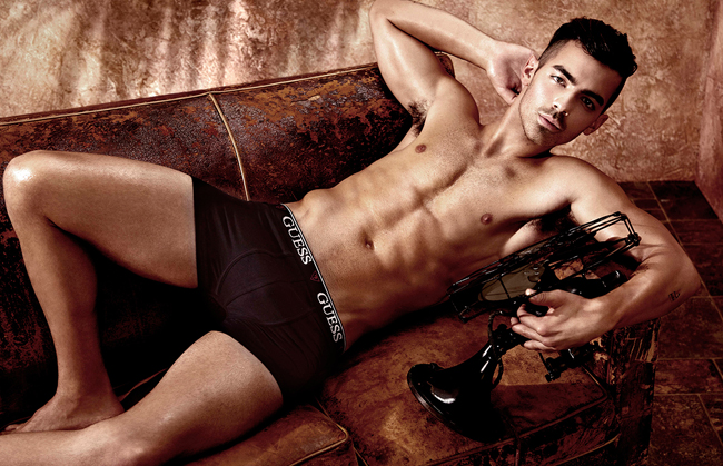 Joe Jonas Guess underwear