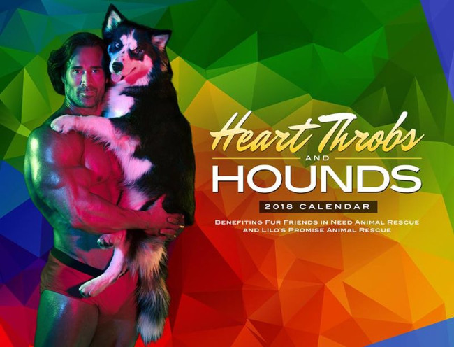 Heart Throbs and Hounds calendar