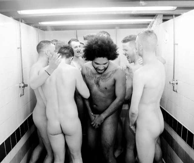 The Naked Rugby Players