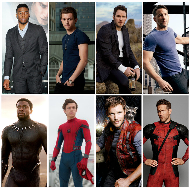 Chadwick Boseman, Tom Holland, Chris Pratt or Ryan Reynolds